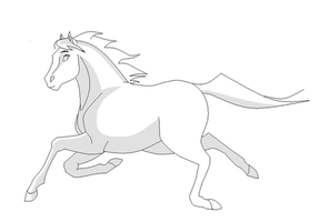 Horse:Running:Mare:Lineart by SaddlePatch