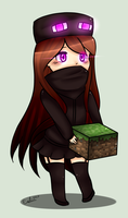 |Enderman Girl (EnderGirl)| by Exilia2417