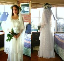 Bridal gown by PandaBarBear