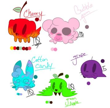 .:Bibis Set 1:. [ADOPTS] by MochiChino