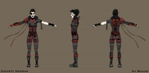 Red Queen Model Sheet by Cique