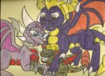 AT: Spyro and Cynder's Family by dragonpop1
