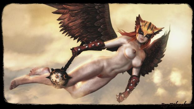 Injustice - Hawkgirl sexy wallpaper by ethaclane