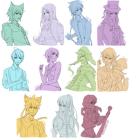 Commissions: Batch Two by tofumi