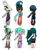 Body horror adopts (CLOSED) by Emptyproxy