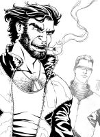 Wolverine and Cyclops by BrunoBull