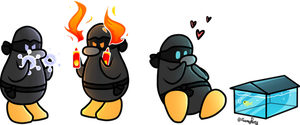 Ninja penguins by DuskofGold5