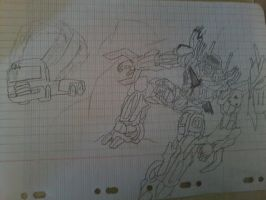 Transformers :Galvatron kills Topspin by AutobotRatchet22