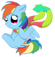 ART TRADE: Rainbow Dash and Scarf by Star--Sprout