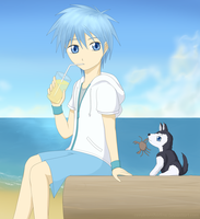 At The Beach by CeruleanShadow