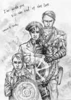 Steve and Bucky by sunsetagain