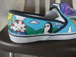 Adventure Time Shoes by NocturnalDrum