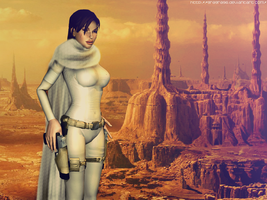 Lara Croft as Padme by Gragra96