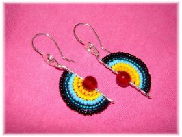 Rainbow earring by jasmin7