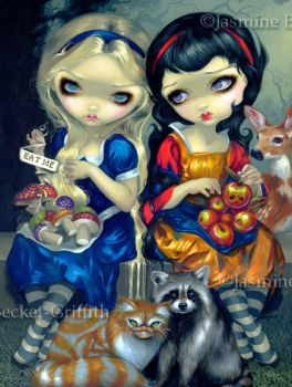 Alice and Snow White by jasminetoad