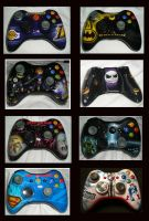 Xbox 360 controllers finished by chrisfurguson