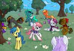 Bunch o ponnies by OrchidPony