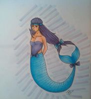 Blue and Purple Mermaid by SMacKDraws