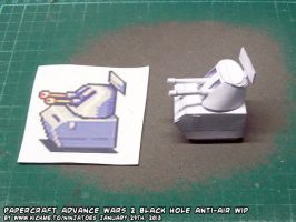 Papercraft Black Hole Anti-air unit finished test by ninjatoespapercraft