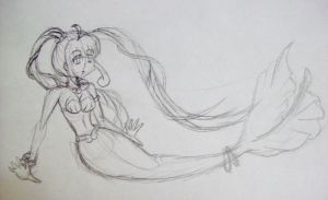 Mermaid Luchia-Hime Sketch by Punisher2006