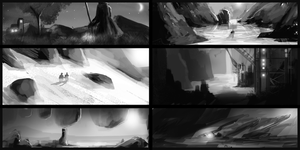 quicksketches -landscapes by JonathanDeVos