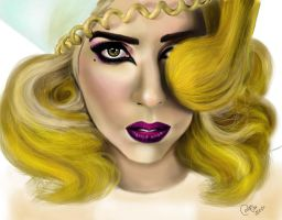 Lady Gaga telephone hair by carlos0003