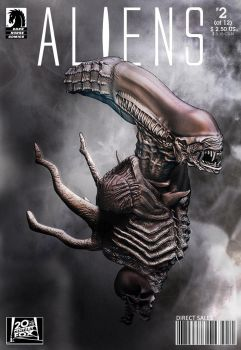 Aliens Comic Cover 2 by Thyke