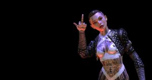 Mass Effect 3: Jack Giving the Finger by Lootra