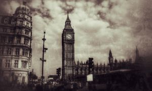 Palace of Westminster, Grunge style by aboshell