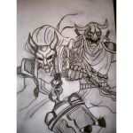 Blood Moon Thresh and Shen by DJessiCat