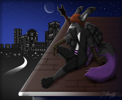 Commission: A Burdy Evening by Aseethe