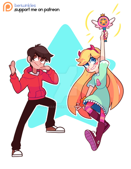 Star and Marco Commission! by HotPinkZippy