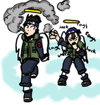 Naruto: Asuma and Hayate by Seamonkey-Sama