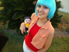 Dragonball Z: Bulma and Trunks by lovelyyorange