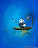 Panda Fishing by NoirArt
