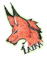 Laika Badge by Wolf-mutt