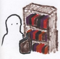 Ghost Bookworm by Karoyence