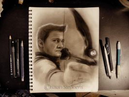 Hawkeye Sketch by IsaiahStephens