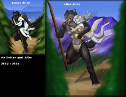 Before and after - Cycle of the Wolf - Book by KuuNara