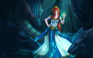 Grown up Scylla - SMITE fanart by aasterath