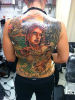 backpiece angel by tattooneos