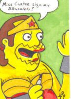 Comic Book Guy as Wonder Woman by Robomonkey82