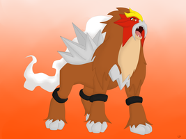 Entei by BoWhatElse