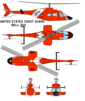 United States Coast Guard  Bell 222 by bagera3005