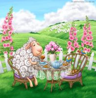 Sheep Tea time by LiaSelina