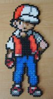 Trainer Red Perler Beads by Kabukiboy