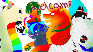 Youtube channel art welcome by redandblackfennec