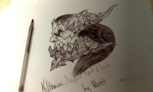 Neltharion, human form of Deathwing by WarrivTheWarrior