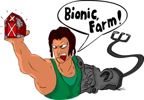 MvC3: BIONIC,FARM by Lefthandedsock
