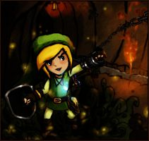 Link in a Cave by Tobitoro